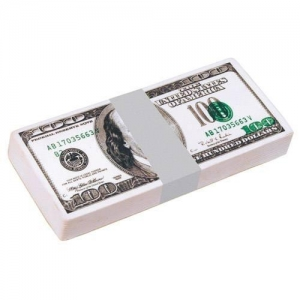 100 Dollar Bill Stack Stress Reliever Balls