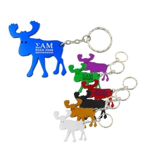Moose Bottle Opener Keychain