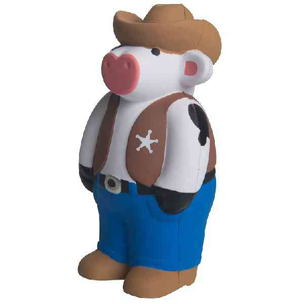 Personalized Cowboy Cow Sheriff Stress Reliever