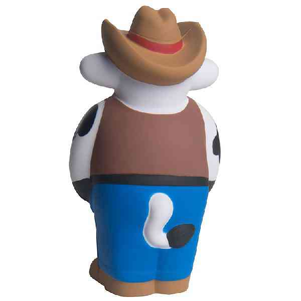 Imprinted Cowboy Cow Sheriff Stress Reliever Balls