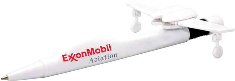 Personalized Jet Airplane Pen White