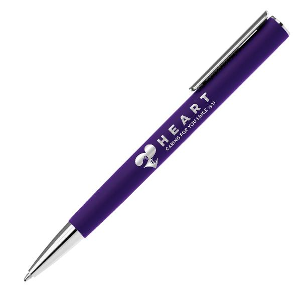 Promotional Metal Soft Touch Pen FRO-24LOT Purple