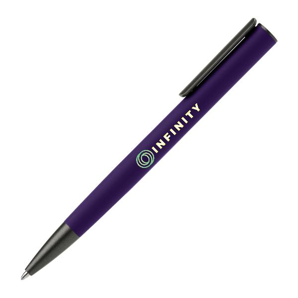 Full Color Retractable Metal Pen FRO-34LOS Purple