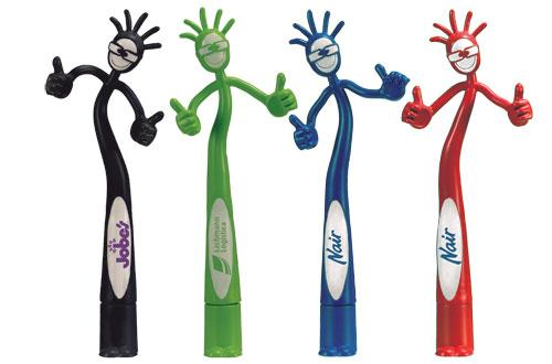 Thumbs Up Bend A Pen Fun Shaped Pen, Novelty Pen, Standard Size Pens, Promotional Pens, Personalized Pens. Large