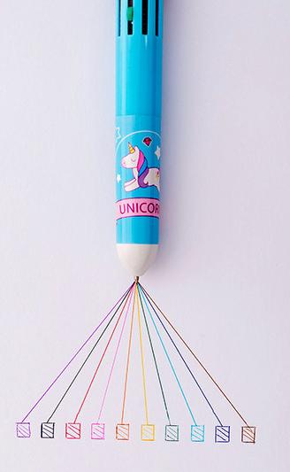 Unicorn Pen 10 Color Personalized Pen