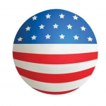 Flag Ball Stress Reliever Balls