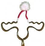 Moose With Santa Hat Pen