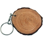 Natural Wood Keyring Keychain