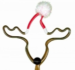 Reindeer With Santa Hat Shaped Pen